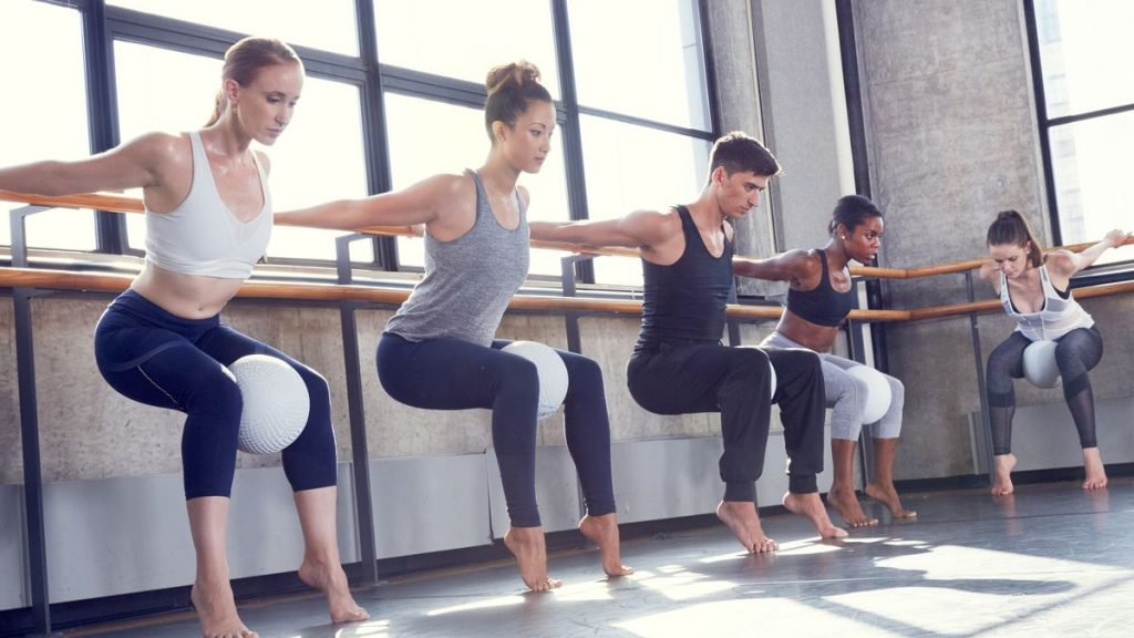 Barre classes in central Singapore